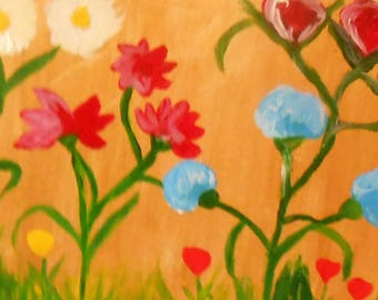 Tribute to the nature in acrylic on canvas