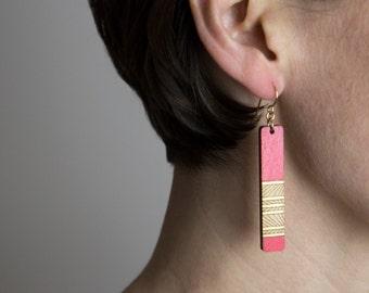 Lines Earrings | Laser Cut Wood Earrings | Geometric Earrings | Custom Earrings | Handmade Earrings | Gifts Under 50 | Gifts for her