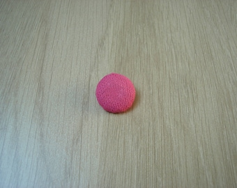 Pink tail fabric covered buttons