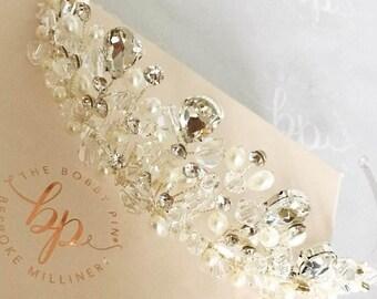 Tiara/Bridal  Crown/Silver Tiara/Silver Tiara/Wedding Tiara/Wedding Crown/Silver hair Crown/Silver and Crystal Tiara