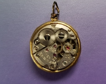 OOAK Steampunk Real Watch Parts Necklace