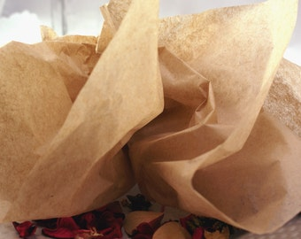 24 sheets of Tissue Paper -  Kraft brown paper - 15 x 20 inch 100% recycled Tissue Paper - eco-friendly gift wrap & packaging