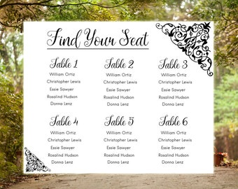 seating charts for wedding receptions