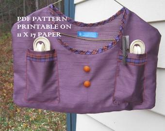 Vintage Clothespin Bag Pattern PDF version