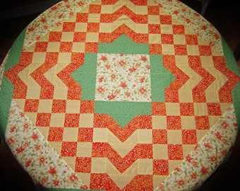 Square geometric patchwork tablecloth