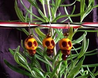 Spooooky Skullies! Handmade stitch markers in sets of 3, 4, or 5 fits up to size 5mm needles