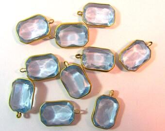 Vintage Lucite Pastel Blue Rectangle Channels 12
