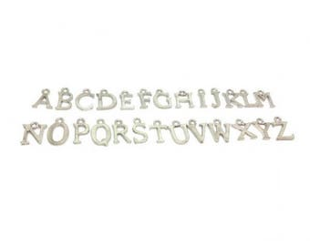 26 letters Alphabet silver plate charms
