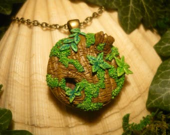 My Piece of Forest - No.V - handsculpted Pendant - OOAK