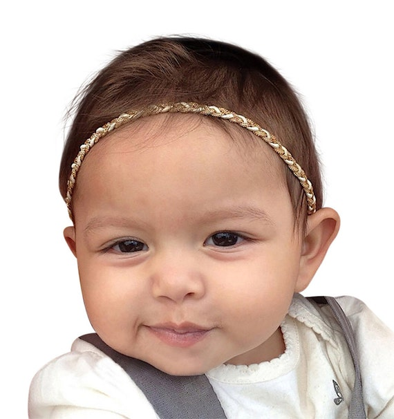 Baby gold headband, Gold Headband, Halo Headband, baby headband, baby girl headband, gold baby headband, baby headbands, Delicate headband