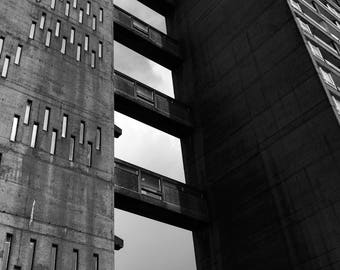 Black And White Photography, Brutalism Print, Brutalist, Brutal, Balfron Tower, Architecture Print, Erno Goldfinger, London Photography