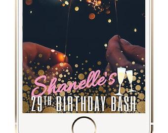 Happy Birthday Snapchat Geofilter, Birthday Party Geofilter, Party Geofilter, Birthday Filter, Gold Birthday Geofilter, Silver Geofilter