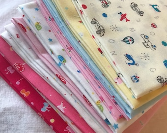 FQ bundle Japanese quilt cotton miniature prints Lecien koko seki Minny Muu collection 10 fat quarters 2 1/2 yards made in Japan 30's scraps