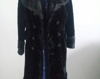 Vintage faux fur 70s  coat