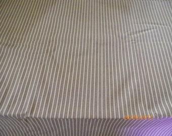 Rust Cotton Fabric in Strip Print