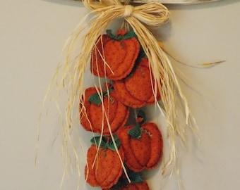 Fabric Fall Pumpkin wall hanging