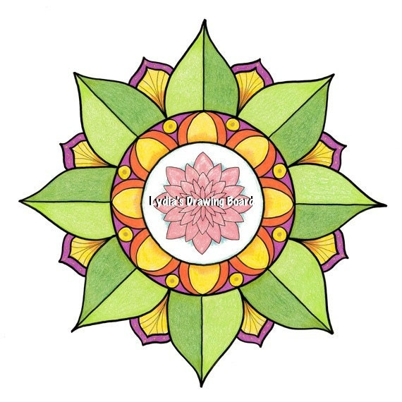 Mandala Art, Mandala Wall Art, Mandala Print, Lotus Mandala, Yoga Studio Decor, Spiritual, Peaceful Art, Sacred Geometry Art, Lotus, Mandala