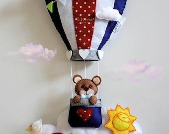 Snowflake birth balloon with teddy bear in Pannolenci-Birthday flake in nappies-balloon with teddy bears