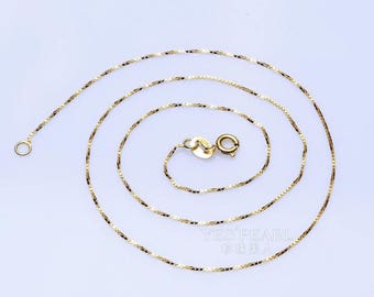 "925 silver 16"" necklace in three colors"