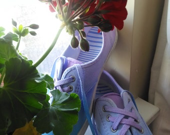 Watercolor Canvas Shoes (Size 9)