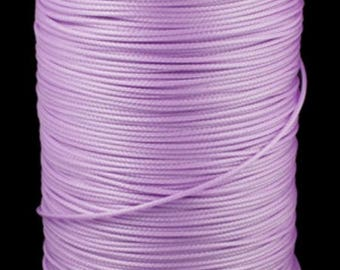 5 meters of cord waxed polyester 1.5 mm purple leather