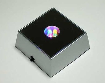 LED lighted distplay box for stones or glass takes 3 AAA batterys not included ss