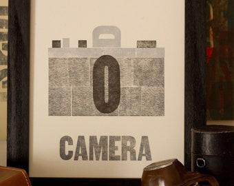 Camera Letterpress Print