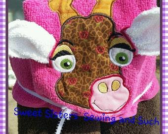 Gilly Giraffe hooded towel
