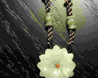 """ON SALE Chrysanthemum """"forever"""" Necklace"""
