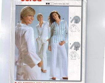 Misses Sewing Pattern Burda 8359 Misses Easy Blouse Loose Fitting Tie Back Top Size 8 10 12 14 16 18 20 UNCUT  99