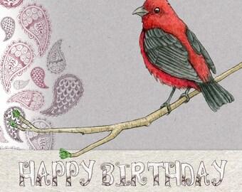 Greeting card - little bird - an original creation