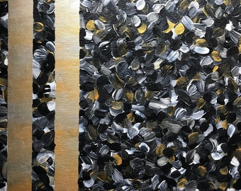 Black gold and silver abstract