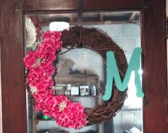 Grapevine Spring Wreath - with house number