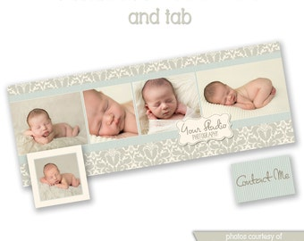 INSTANT DOWNLOAD - Facebook timeline cover photoshop template and coordinating profile thumbnail - 0807