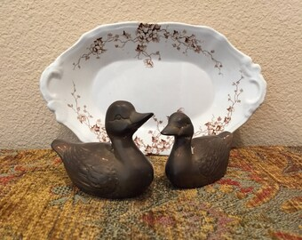 Brass Duck Vintage Figurines or Paperweights