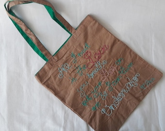 "Shopping bag-""underwater""-embroidered carrying bag"