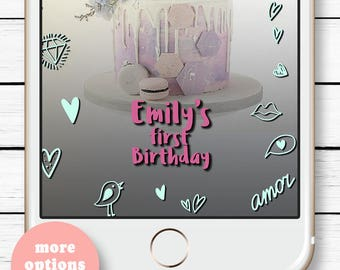 Kid's Birthday Geofilter, Love Kids party, Happy Snapchat Geofilter Birthday, Birthday Snap chat, 21st Birthday Filter, Love Snapchat Filter