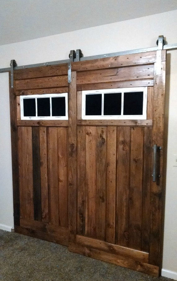bypass barn door hardware. ON SALE-Bypass Sliding Barn Door Hardware Kit With Track System For 2 Doors One Not Included Made In Usa Bypass S