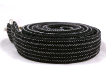 Black&gray striped dog leash - Strong pet lead - Sturdy dog lead - Is your dog a gentleman / Black and grey striped dog leash - Extra strong