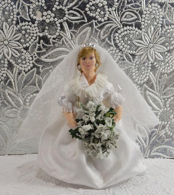 Diana Princess of Wales Doll Miniature Bridal Wedding Art
