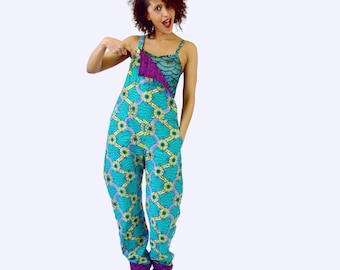 Reversible Cotton Print Dungarees