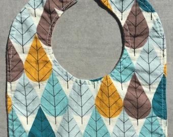Organic Baby Bib- October Leaves