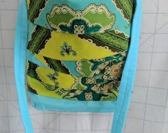 Asymmetrical Lines Crossbody Bag