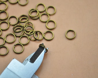 bronze chain links,small links,antique bronze links,round links,200 pcs