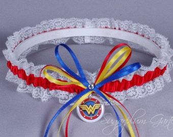 Wonder Woman Lace Wedding Garter