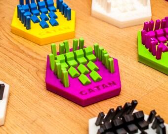 Settlers of Catan Piece Holder | Catan Gift | Catan Board Game | Catan Game Pieces | Catan Box Organizer|  Catan Piece Holder