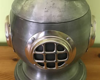 """Nautical Livorno Italy 1894 Ice Bucket Diver Helmet 12"""" Champagne Holder Man Cave Large 4.25 lbs"""