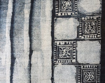 Indigo on cotton vintage batik