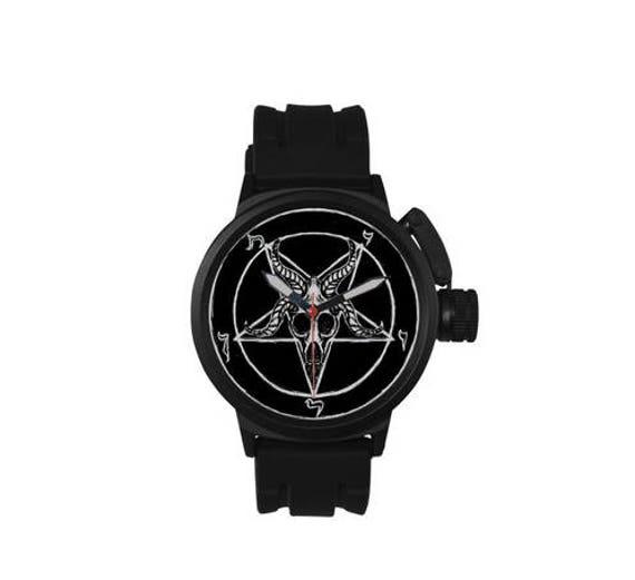 Baphomet Pentagram 666 sport style watch