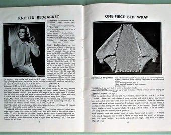 Vintage 30s Knitting Patterns Crochet Book 1930s The Greenock Handbook of Knitting and Crocheting original patterns lingerie mittens wraps